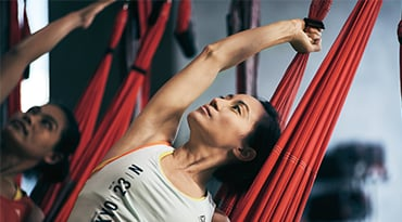 Fitness First Hong Kong aerial flow yoga class