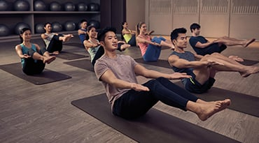 Fitness First Hong Kong core flow yoga class