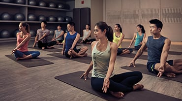 Fitness First Hong Kong gentle flow yoga class